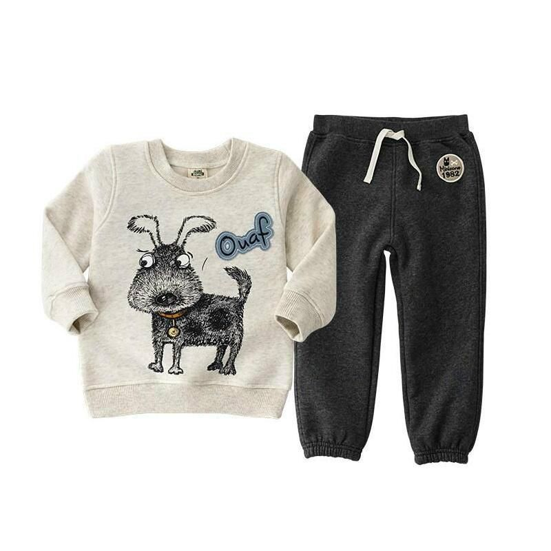 2018 fashion bear clothing sets for kids clothes ,3-6Y hoodies T-shirt for boys clothes Apring autumn casual <font><b>children's</b></font> clothing