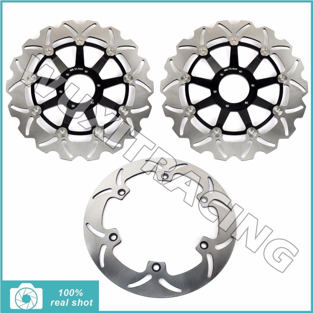 1997 1998 1999 2000 2001 2002 2003 Full Set Front Rear Brake Discs Rotors for Honda GL F6C 1500 Valkyrie Interstate Tourer CI CT