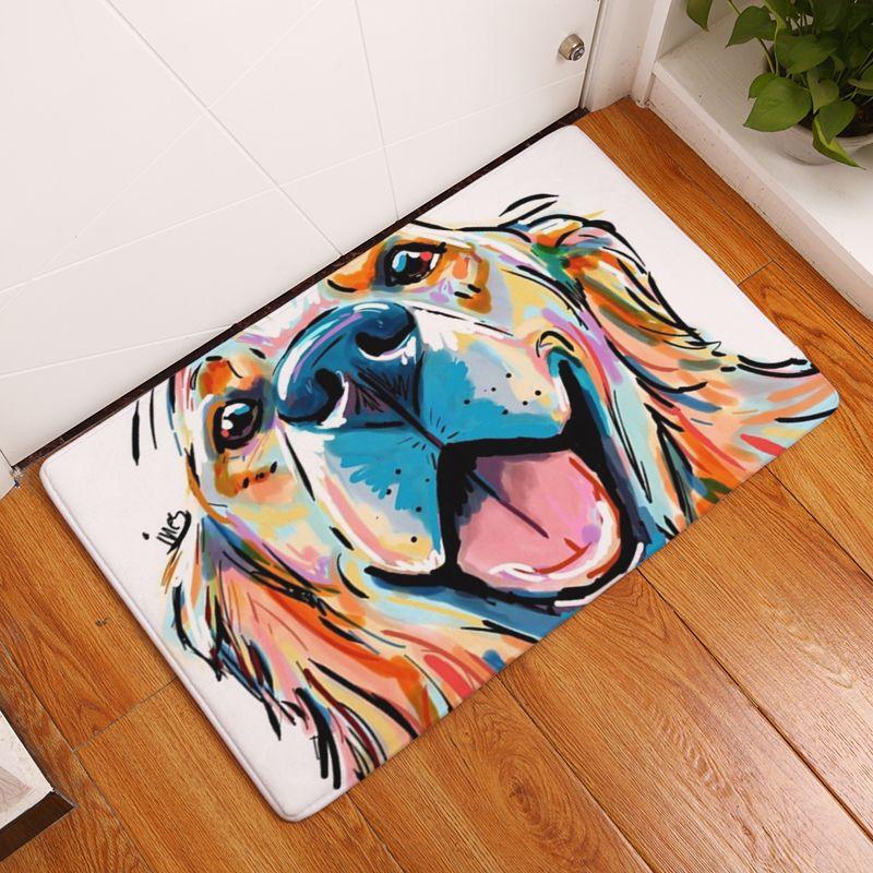 Nouveau tapis anti-dérapant Pet chien impression tapis salle de bain sol cuisine tapis 40X60 50X80 cm