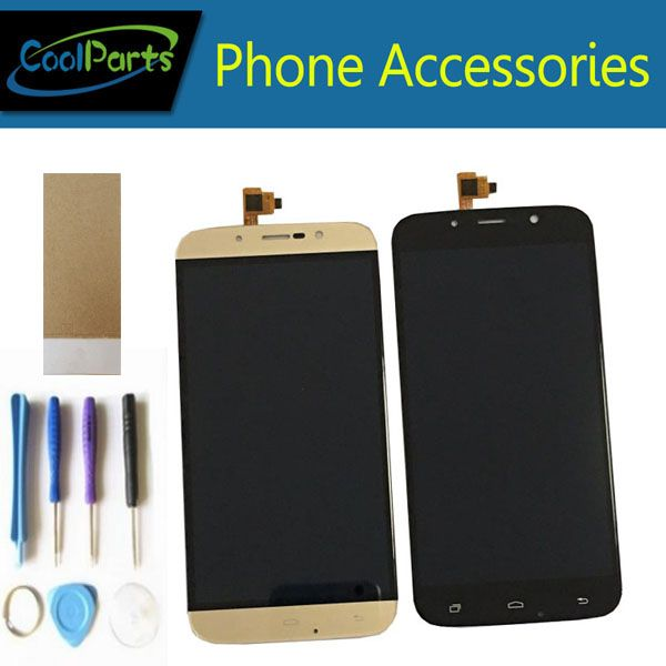 1PC/Lot For Umi Rome wsc5521 Umi Rome X LCD Screen Display +Touch Screen Digitizer Assembly With Tool&<font><b>Tape</b></font> Black Gold Color