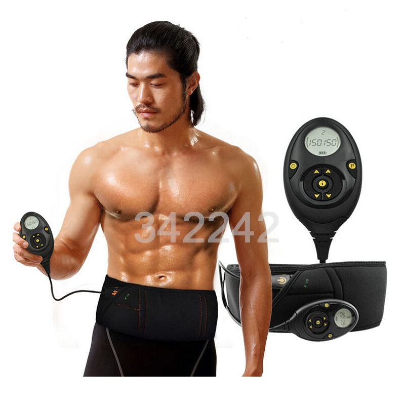 Best Smart slimming massage belt EMS Muscle stimulator Unisex Abs Abdominal Muscle Toner Core Abs Workout Belt 10 training mode