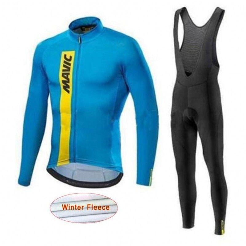 Mavic Winter Radfahren Set Thermische Fleece Radfahren Kleidung Pro Team Bike Downhill Jersey Skinsuit MTB Kleidung Roupas De Ciclismo