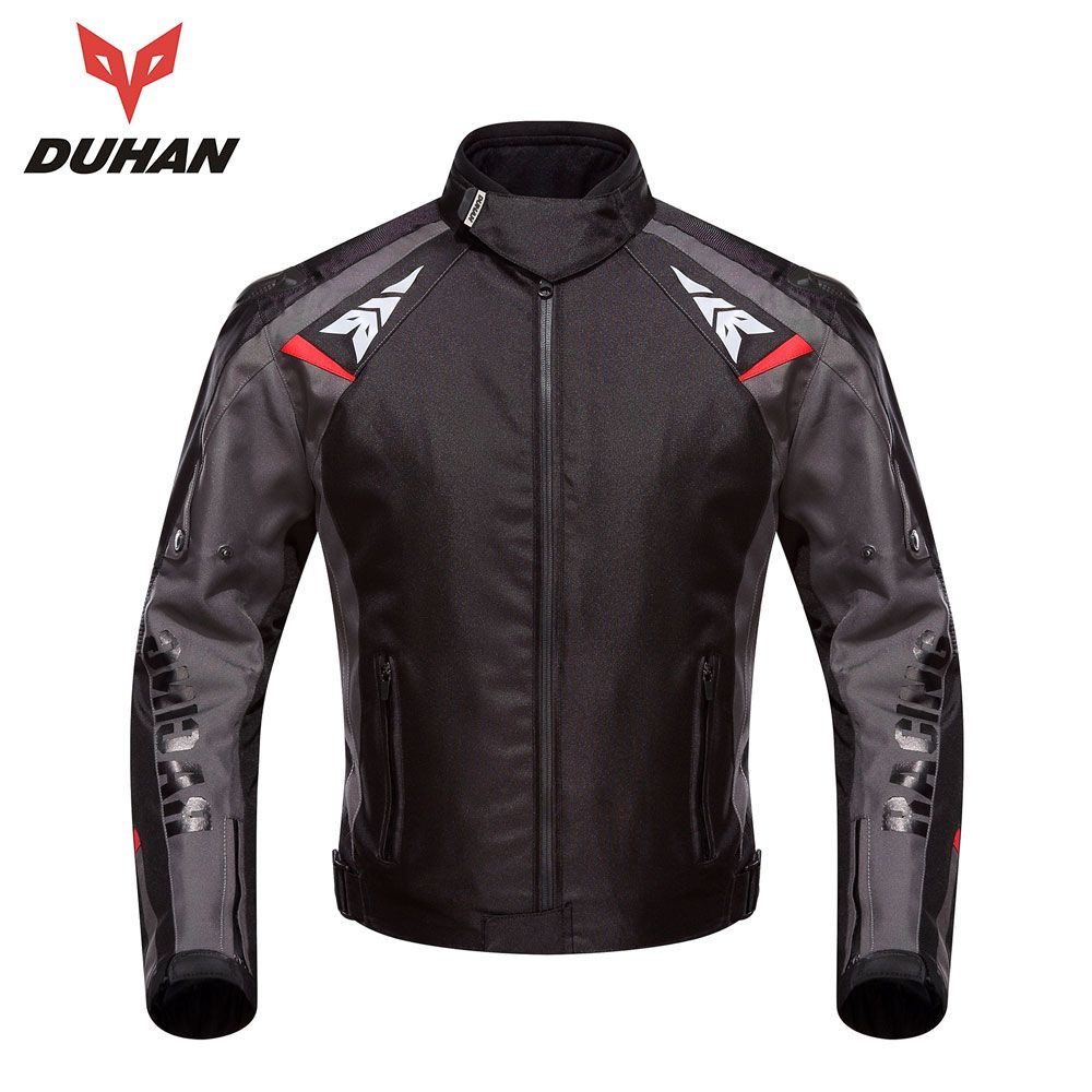 DUHAN Motorcycle Jackets Men Waterproof Motorcycle Racing Jacket Protective Motocross Riding Jacket Professional Protector