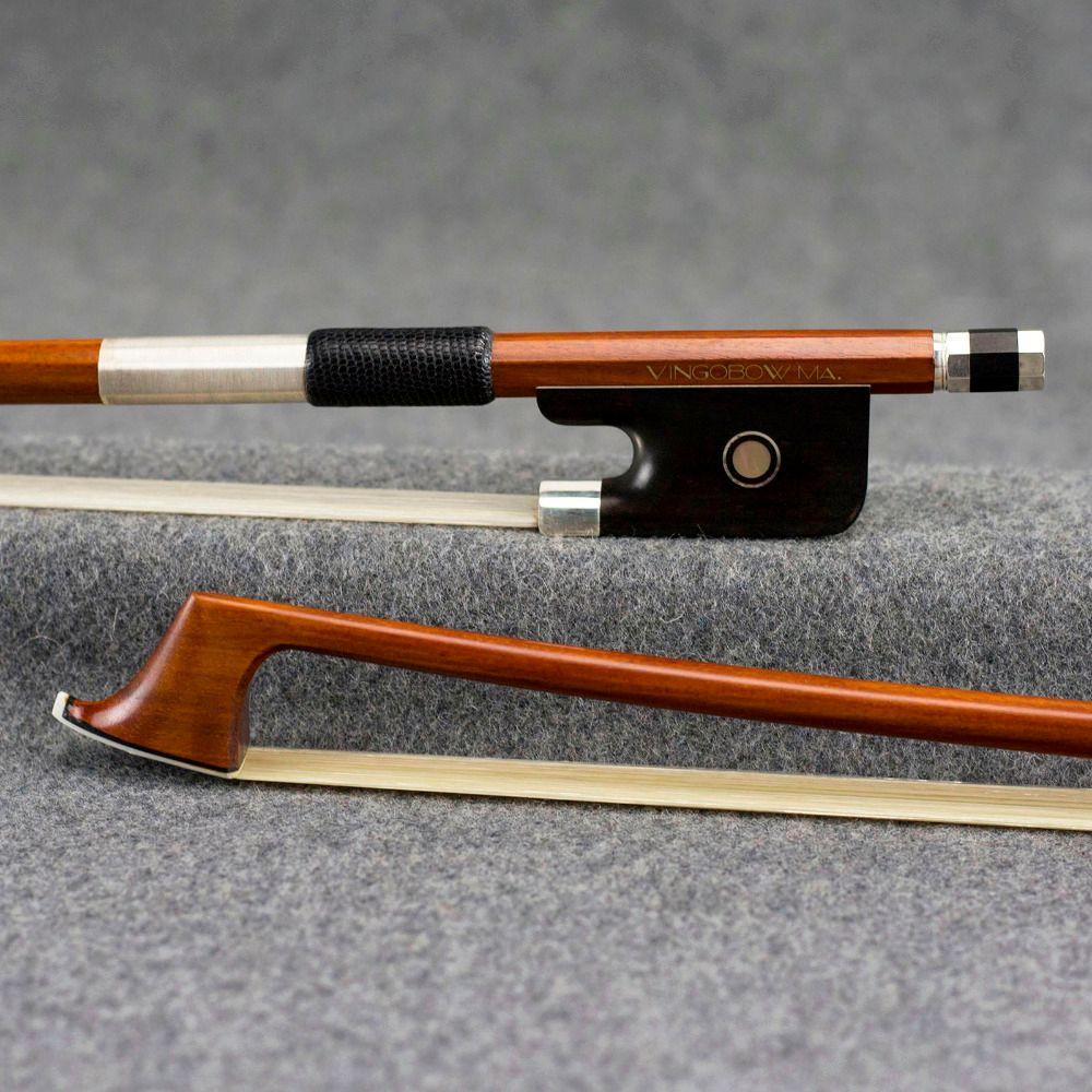 VingoBow Master Pernambuco Cello Bogen Reinem Silber Montiert Alt D. peccatte Modell 4/4 Größe 954C Mellow Süßen Ton Ausgewogene
