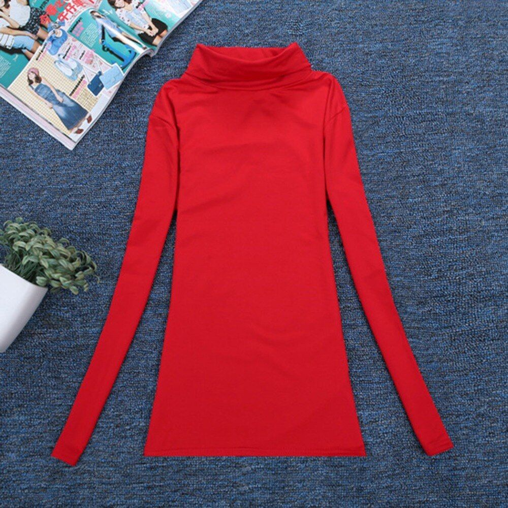 Women Elastic Sweaters Autumn Winter Wool Turtleneck Pullover Long Sleeve Basic Tops Shirts Female Slim Solid Jumper