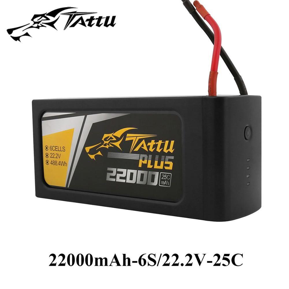 TATTU 22000mAh 25C Lipo Batteries 6S 22.2V 22.8V Plus tteria Smart RC Battery for S800 S900 S1000 UAV Quad Helicpter Drone