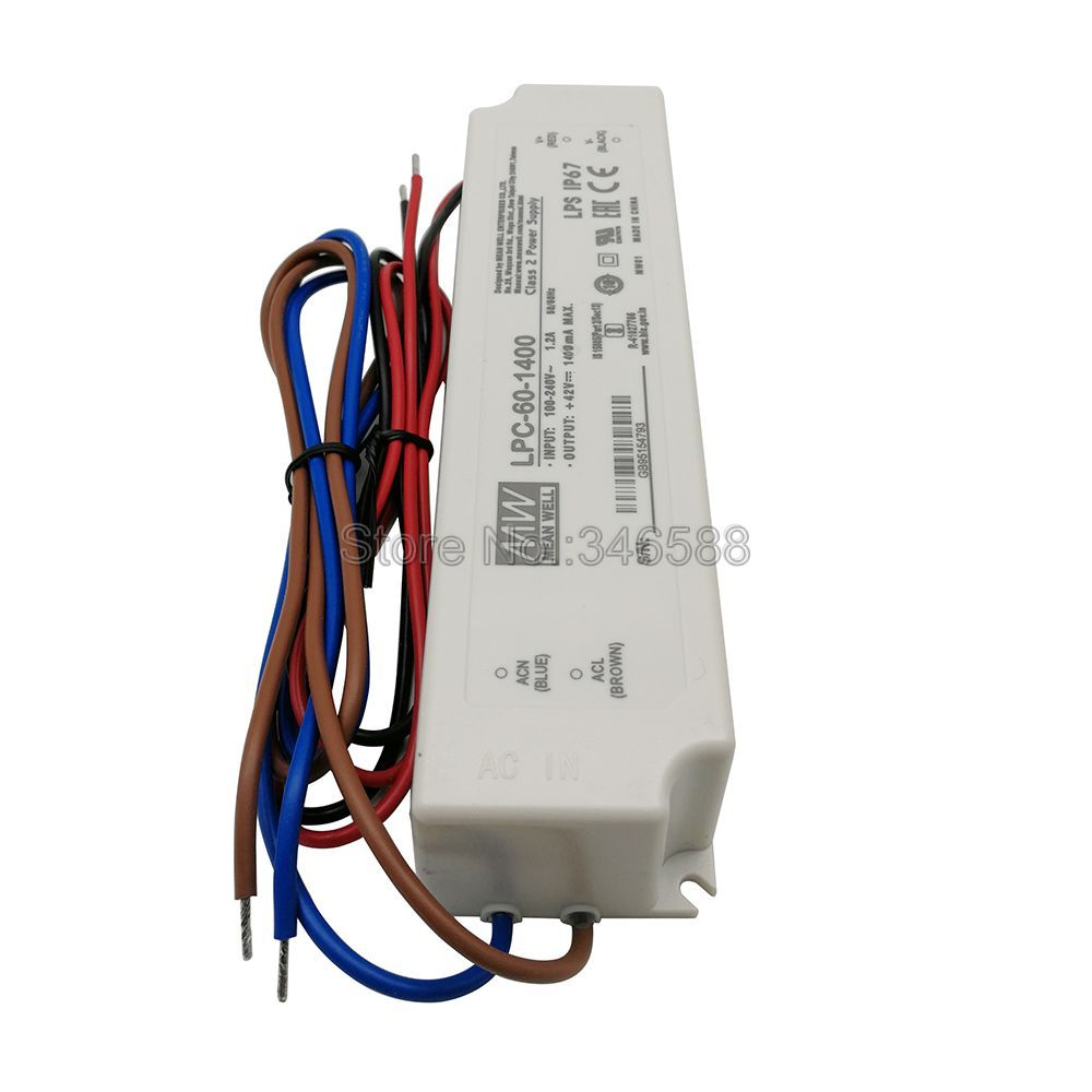 Meanwell LPC-60-1400 Schaltnetzteil Konstantstrom-led-treiber Ausgang 60 W 1400mA für 1 pc Cob Cree CXB3590 CXA2530