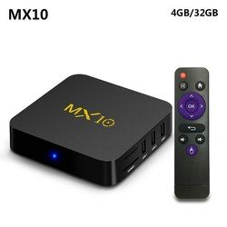 MX10 4GB DDR4 32GB eMMC Android 7.1 TV BOX RK3328 Quad Core KODI 17.4 4K HDR 2.4GHz WIFI USB 3.0 Smart Set Top Box PK H96 pro