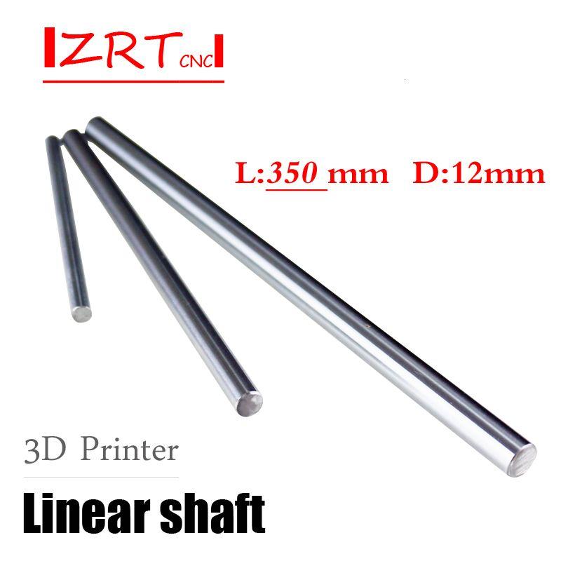 2 pcs WCS12 12mm 350mm Linear shaft round rod L350mm for CNC parts XYZ WCS12 L350mm