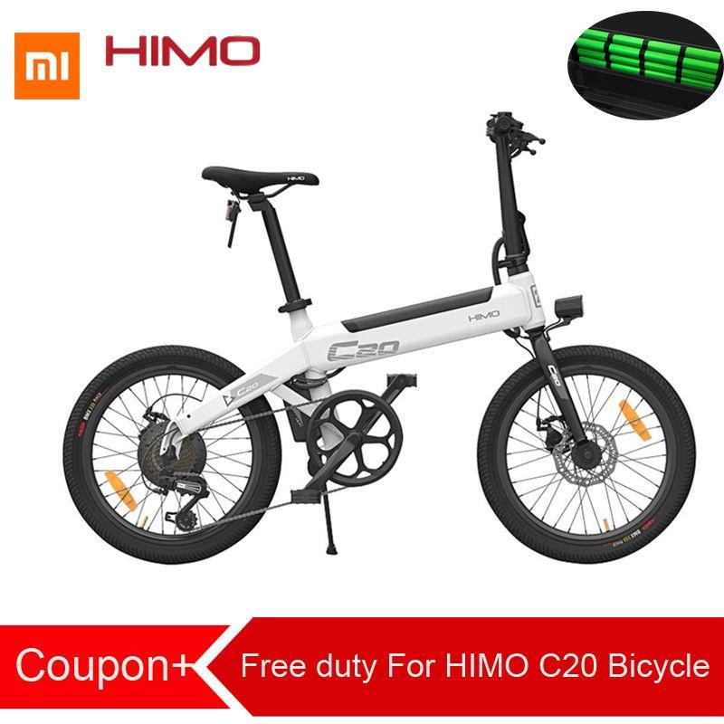 Freies duty Für Xiaomi HIMO C20 Faltbare Elektrische Moped Fahrrad 250 W Motor 25 km/hcapacity 100 kg für erwachsene und jugendliche lightweig