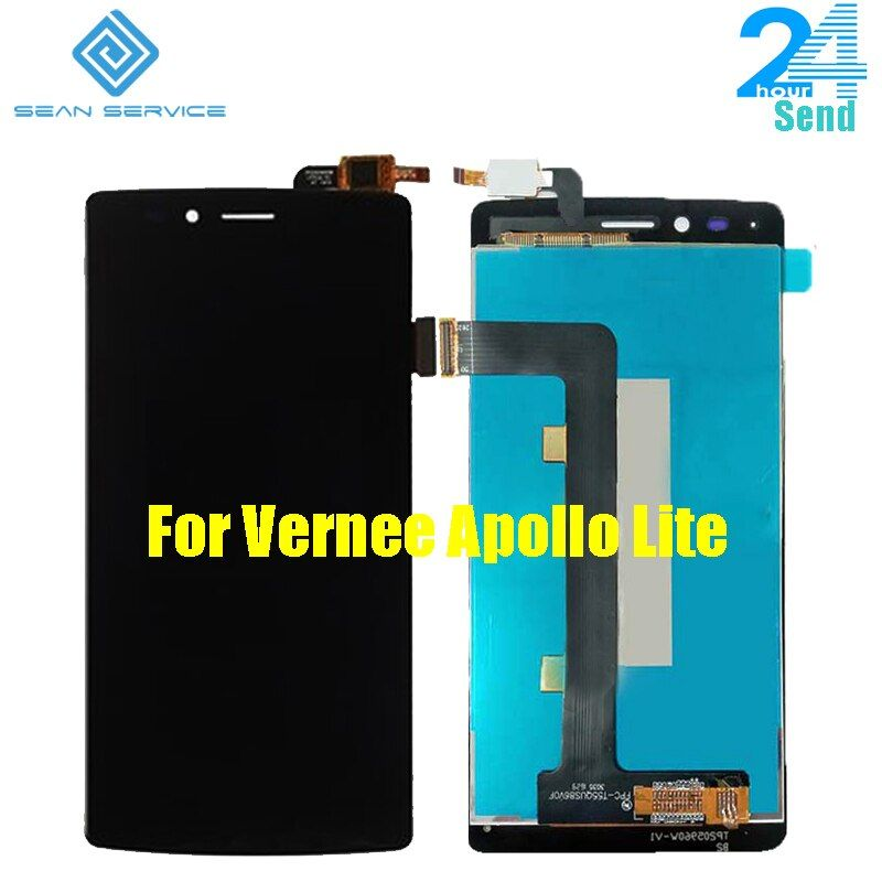 For Original Vernee Apollo Lite LCD Display + TP Touch Screen Digitizer Assembly Lcds 5.5