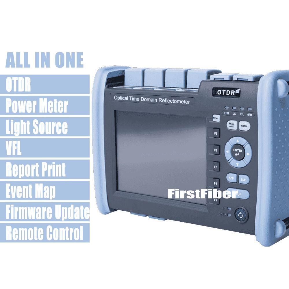 FF-990PRO-Q1 Fiber Optic OTDR SM MM 850/1300/1310/1550nm Reflektometer Gebaut VFL OPM OLS Touchscreen mit SC ST FC LC Stecker
