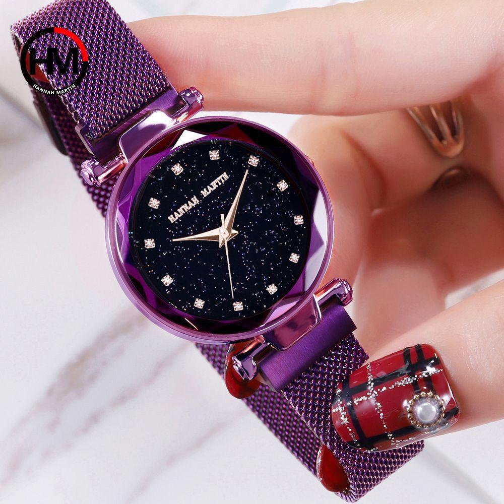 Fashion Star Sky Zifferblatt Quarz Uhr für Dame Kleid Uhr Neue Elegante Magnetische Edelstahl Strap frauen Armband Armbanduhren