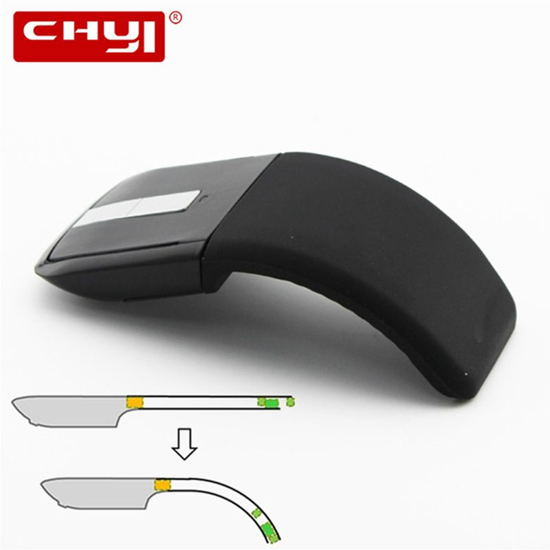 CHYI 2.4Ghz Foldable Wireless Mouse <font><b>Folding</b></font> Arc Touch Mouse Mause Computer Gaming Mouse Mice for Microsoft Surface PC Laptop