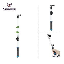 SnowHu for Go Pro Floating Extension Pole EVO 14-24 Inch Float Floaty Monopod With Remote Clip Gopole For Gopro Hero 5 4 3+GP239
