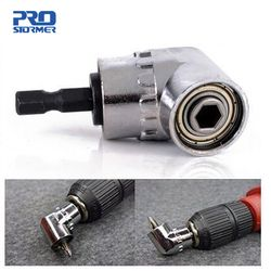 PROSTORMER 1/4 Magnetic Connector 105 Degree Adjustable Angle Drill Driver Screwdriver Hex Shank Power Drill Turning Screwdriver