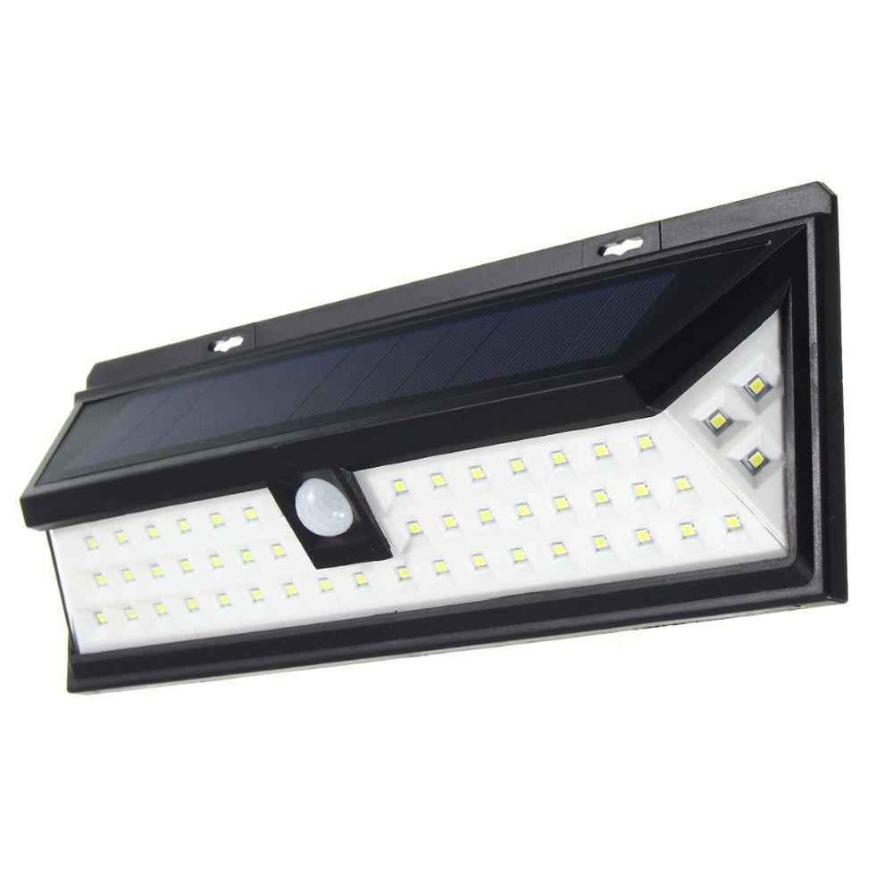 Waterproof 54 LED Solar Light 2835 SMD White Solar Power Garden LED Solar Light Motion Sensor PIR Pathway Wall Lamp 3.7V