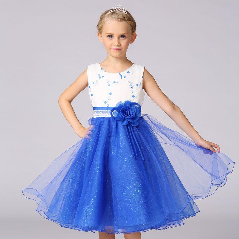 Retail Princess Dress For <font><b>Girl</b></font> 2017 Children Clothing Spring Mesh Voile <font><b>Girl</b></font> Party Dress Free Shipping L18705-ST