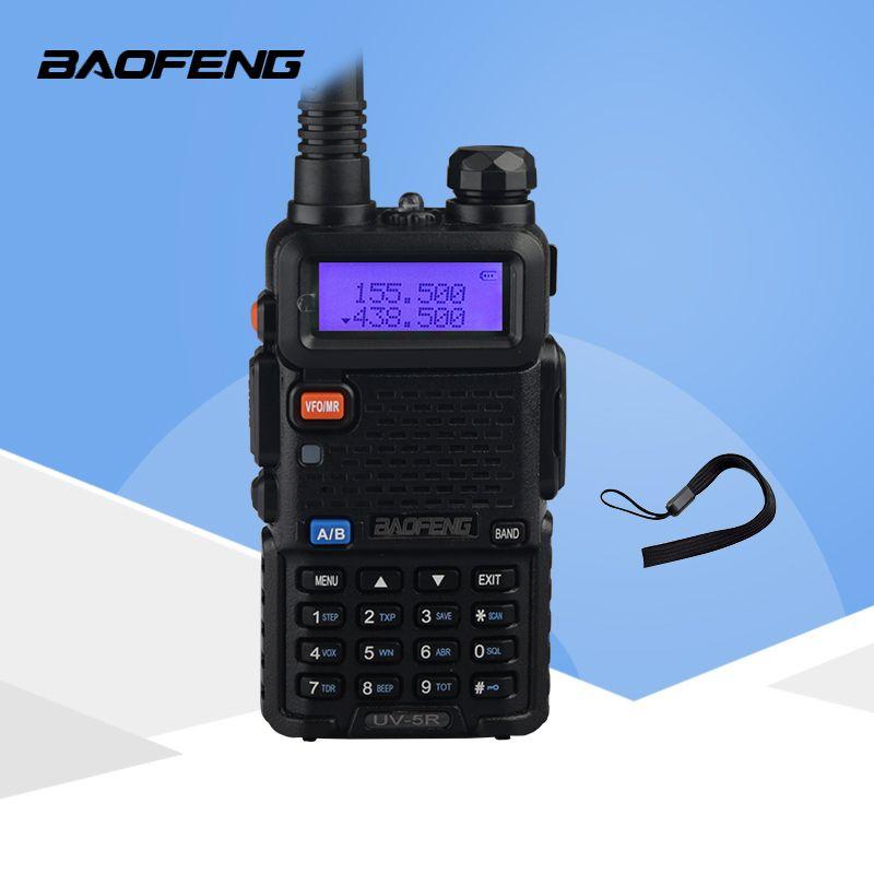 Radio portable Ensemble Baofeng UV-5R 5 W Talkie Walkie UV5R Double Bande Radio Bidirectionnelle Portable Pofung UV 5R Talkie- walkie Pour La Chasse