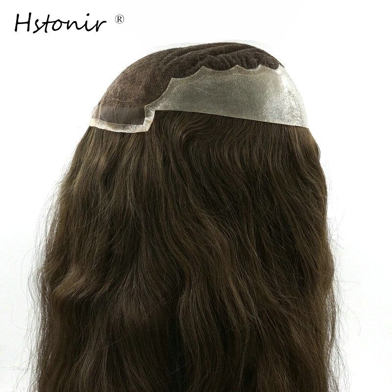 Hstonir Women Topper Human Hair Pieces 14 Inch 16 Inch 20 Inch Long Natural Hair In Stock H045