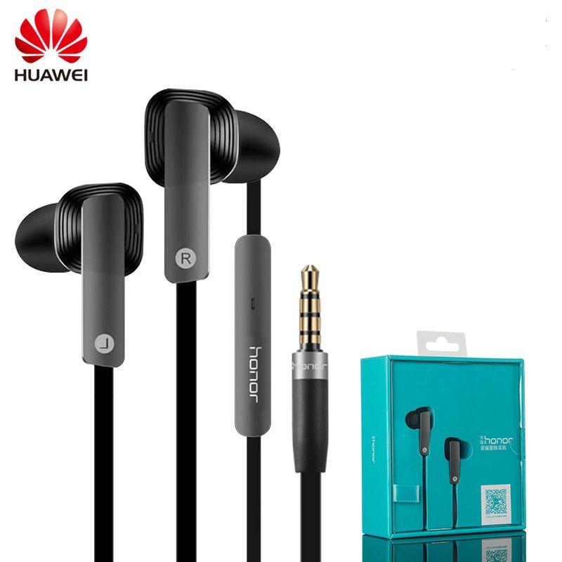 Original Huawei Honor AM175 Earphone Dynamic Balanced Armature Dual Unit Earphone with Microphone In-Ear Headset