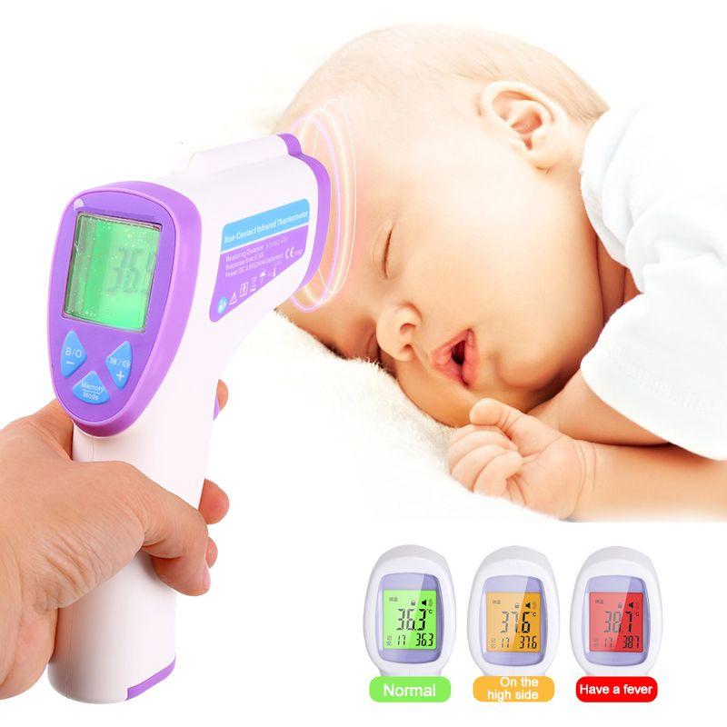 Bebé Termómetro Digital Multi-Función Sin contacto Cuerpo Termómetro Infrarrojo Pistola Frente Termometre zl163