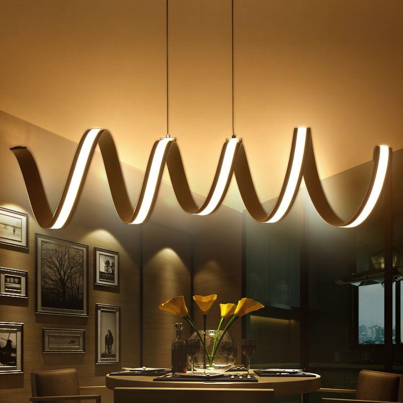 Moderne LED Suspendus Lampes À Manger Salon Lampes Suspendues Lampe Lamparas Moderne Pendentif Lampe pour la Cuisine Suspension Luminaire