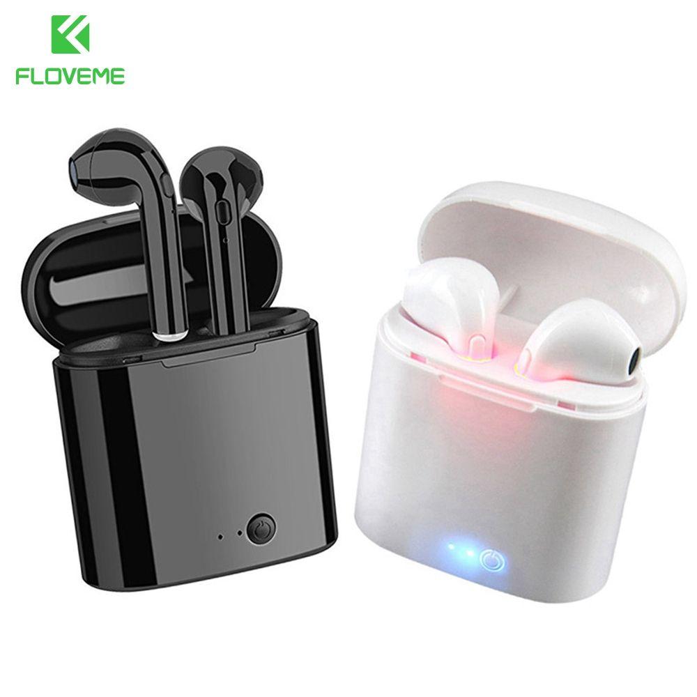 FLOVEME i7s TWS sans fil Bluetooth écouteurs Sport casques avec boîtier de charge micro pour iPhone Samsung téléphone Bluetooth écouteurs