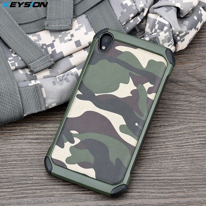 KEYSION Case for ASUS Zenfone Live Army Camo Camouflage Pattern PC+TPU 2 in1 Anti-knock Protective Back Cover for ASUS ZB501KL