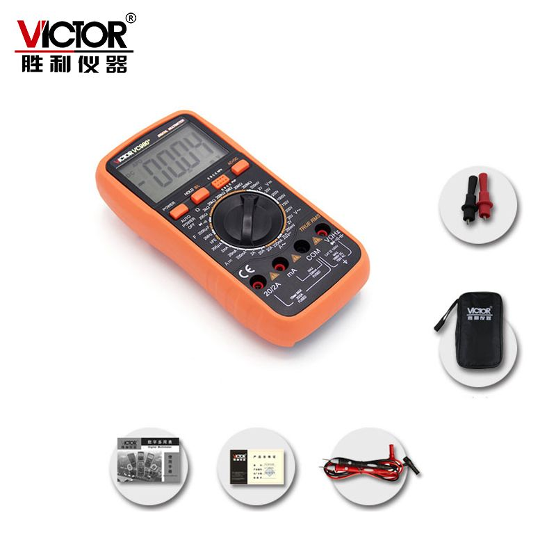 VICTOR VC980+ Ture RMS 4 1/2 Digital Multimeter Handheld Autoranging Electronic Instrument with Large LCD Display