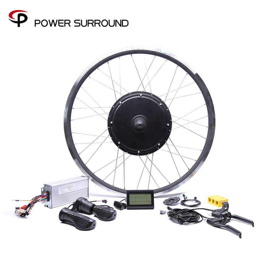 2018 Free shipping 48V 1500W rear high speed Motor Electric Bicycle eBike Conversion Kits for 20''26''28''700C motor wheel