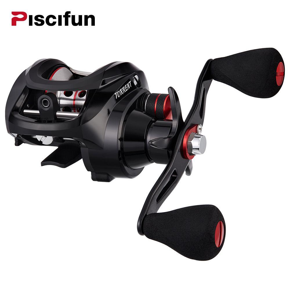 Piscifun Torrent fishing Reel 8.1kg Carbon Drag 7.1:1 5.3:1 Gear Ratio 6 Bearings Magnetic Brake Low Profile Baitcasting Reel