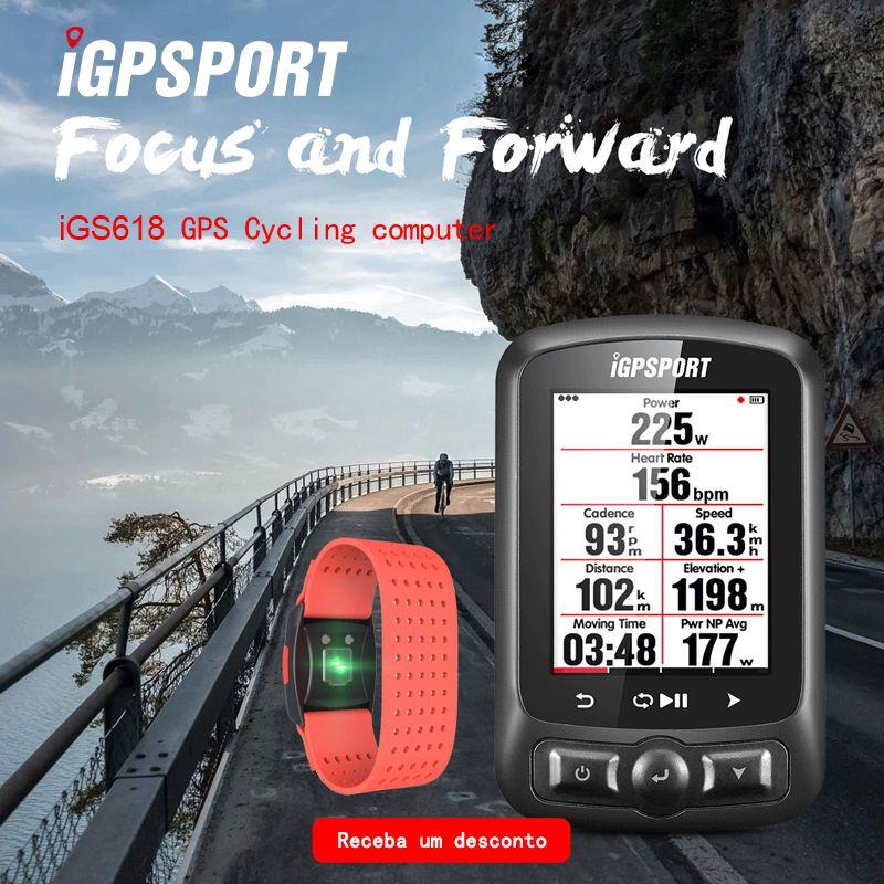 ANT + & Bluetooth radfahren power meter iGS618 iGPSPORT gps Fahrrad computer navigation Tacho IPX7 3000 stunden daten lagerung