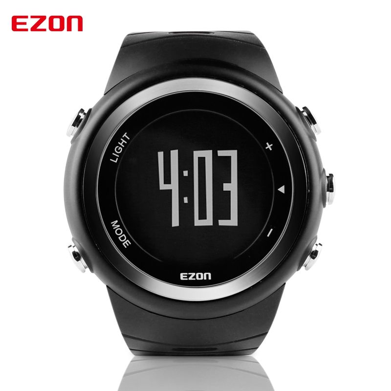 Free Shipping EZON T023 Running Sport Watch <font><b>Pedometer</b></font> Calorie Monitor Digital Watch Outdoor Running Sports Watches Waterproof