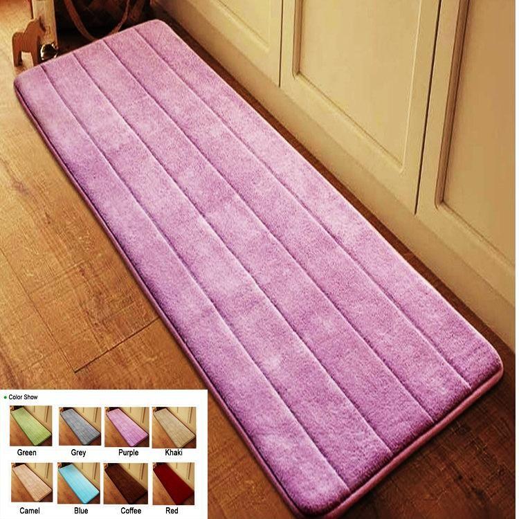 Tapis de porte antidérapant en velours pour salle de bain tapis de bain absorbant rebond lent tapis de salle de bain en mousse à mémoire tapis de sol en microfibre 40*120 cm