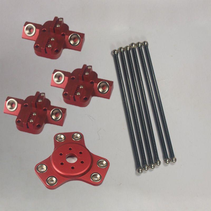 Funssor 1set*kossel k800 mini 3D printer magnetic effector carriage180mm carbon tube Diagonal push rods kit