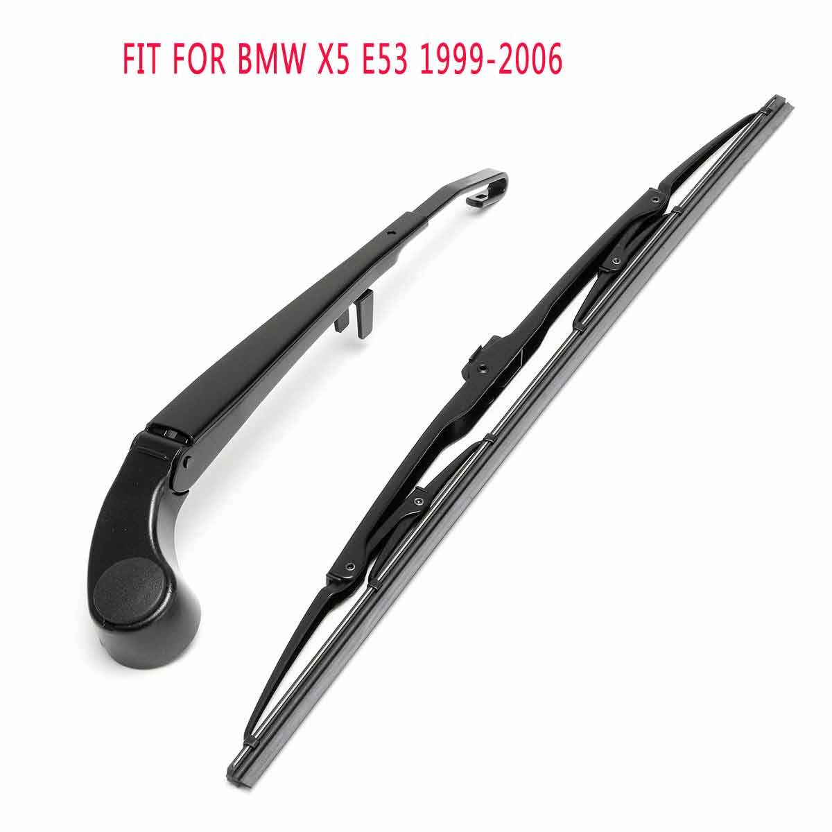 Rear Wiper Blade & Arm & Cover Window Windscreen For BMW X5 E53 1999-2006
