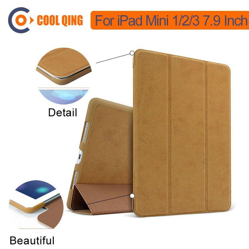 BGR Smart pli support étui pour ipad Mini 1 2 3 Retina Auto sommeil/réveil Tri-pli housse support pour coque ipad Mini 7.9 pouces