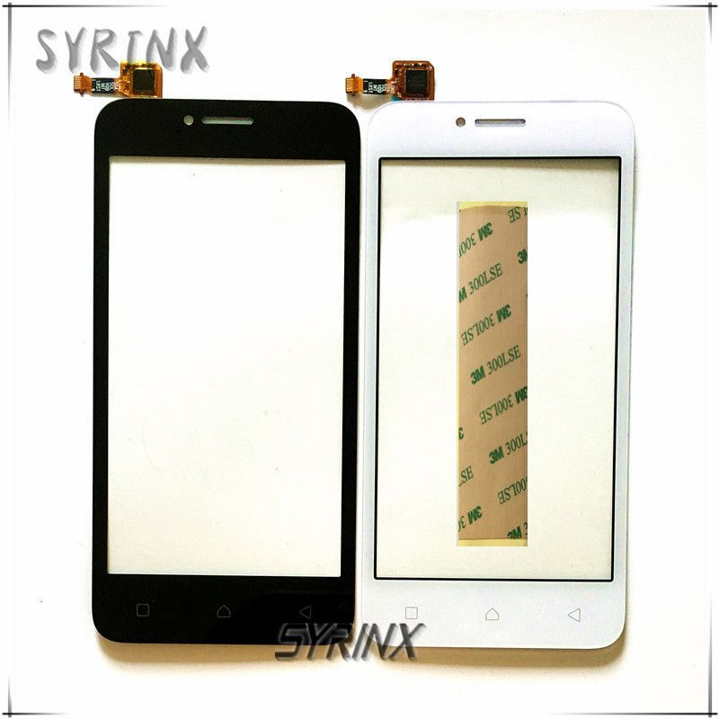 4.5 inch With Tape Touchscreen For Lenovo A plus A1010 A 1010 Touch Panel Smartphone Touch Screen Digitizer Front Glass Sensor