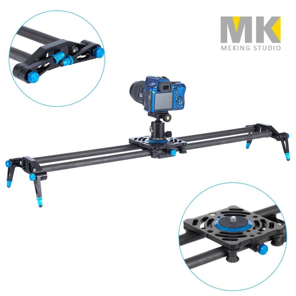 Meking 80cm 100cm 120cm Carbon Fiber rails shooting slider Dslr Camera Slider Rail Track Dolly Video Stabilization