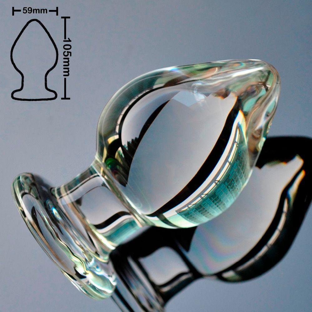 59mm grande taille pyrex verre anal gode gros cristal perle balle godemichet anal faux pénis Sex toys pour femmes hommes gay femme masturbation