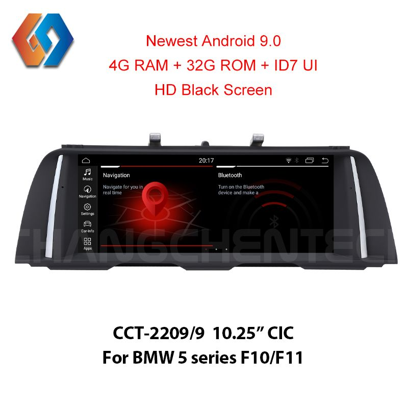 Android 9.0 4G Multimedia Auto Bildschirm für BMW 5 Series F10 F11 CIC 1920x720 HD Schwarz Touch Auto radio Eingebaute CarPlay WiFi BT GPS