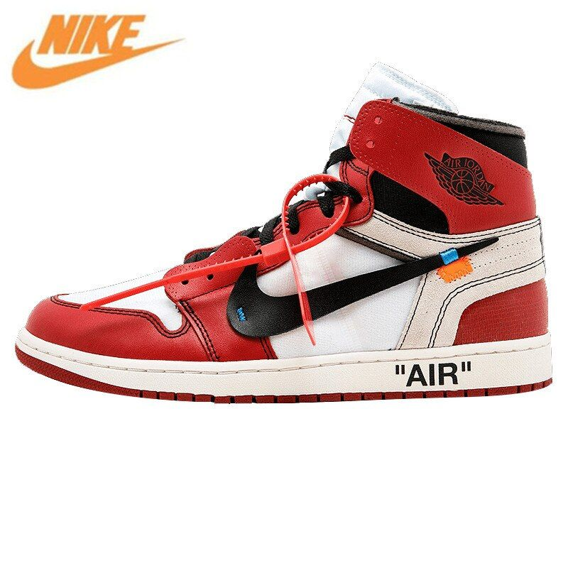 Nike Air Jordan 1 X Off White AJ1 L Limited Edition Limited Men's Basketball Shoes, Cool Outdoor Shoes Sneakers AA3834 101