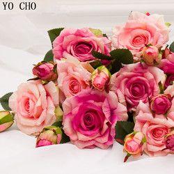 Real Touch Rose decoraciones de Navidad para el hogar artificial de seda Peony decoración de la boda marrige flor decorativa decoración del partido