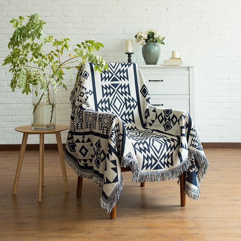 Northern Europe Sofa Blanket Geometric Pattern Carpet For Living Room Bedroom <font><b>Rug</b></font> Bedspread Dust Cover Table Cloth Tapestry