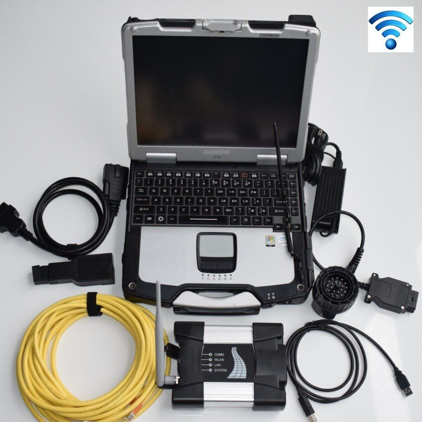 for bmw icom a2 latest generation icom next wifi work for bmw diagnosis tool with 2018.05v software in cf-30 laptop full set