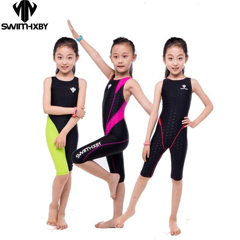 HXBY Professionelle Wettbewerb Kinder Badeanzug Für Mädchen Bademode Frauen Ein Stück Badeanzug frauen Badeanzüge Schwimmen Anzug