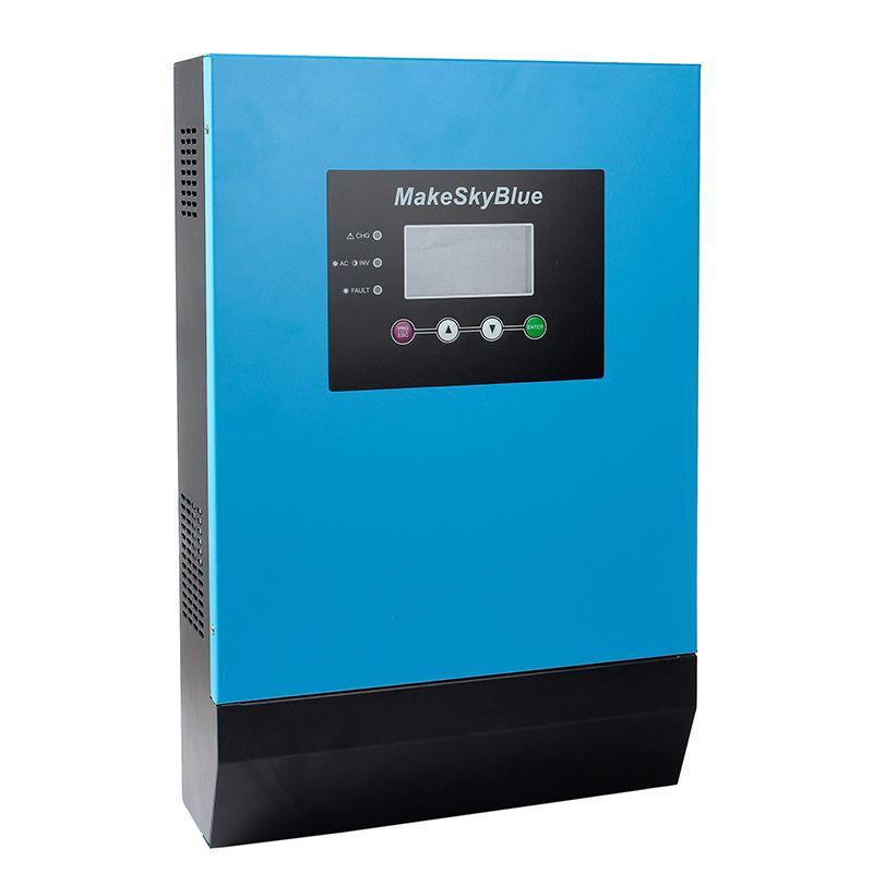 MakeSkyBlue 2KVA 3KVA Hybrid MPPT Solar Inverter 12V 24V 36V 48V DC ZU 120V AC MPPT Inverter mit LCD Display