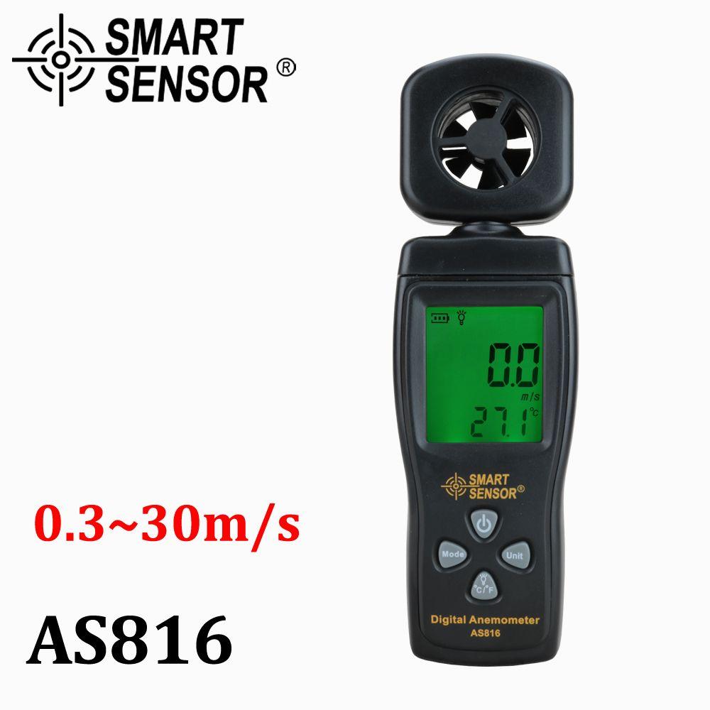 Anémomètre multifonctionnel LCD compteur de vitesse du vent jauge de vitesse de l'air compteur de température outil de diagnostic avec rétro-éclairage