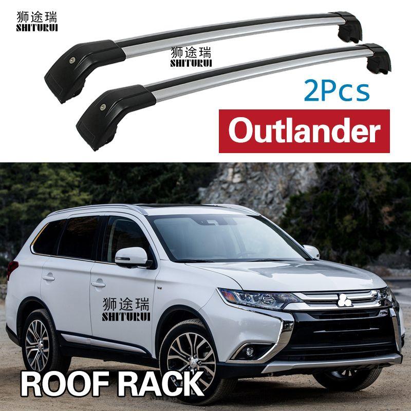 SHITURUI 2Pcs Roof bars For Mitsubishi Outlander 5 Door SUV 2012+ Aluminum Alloy Side Bars Cross Rails Roof Rack Luggage Carrier